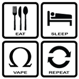 Eat Sleep Vape Repeat